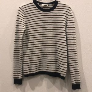 Striped wool angora mix sweater